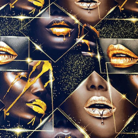 Prevešanka Gold ustnice