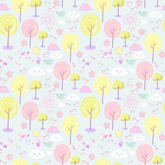 Jersey drevesa roza in rumena