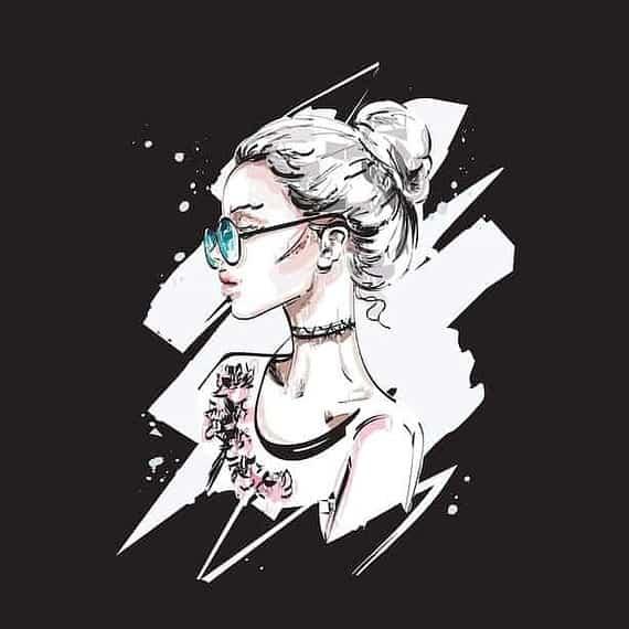 XL PANELA z očali in figo na črni