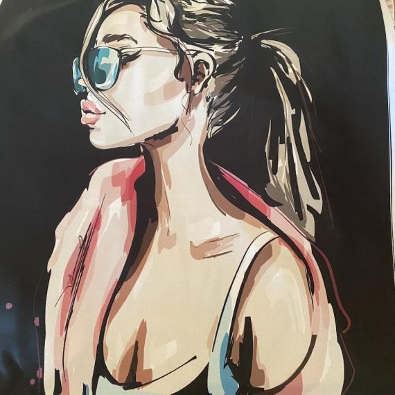 XL PANELA z očali na črni